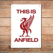 This Is Anfield, Liverpool Metal Sign