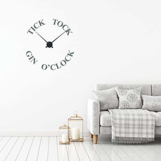Wall Chimp Tick Tock Gin O'Clock Wall Sticker Clock