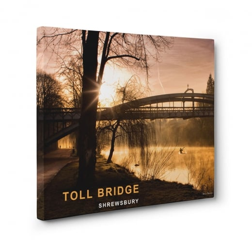 Wall Chimp Toll Bridge - Shrewsbury Canvas Print