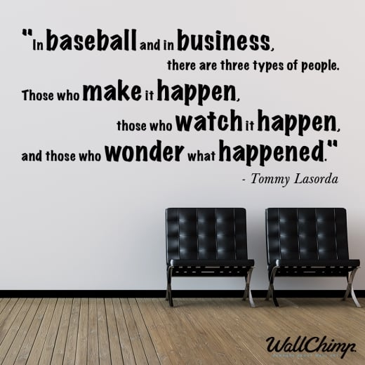 Wall Chimp Tommy Lasorda Motivational Sports Wall Sticker Quote