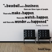 Tommy Lasorda Motivational Sports Wall Sticker Quote
