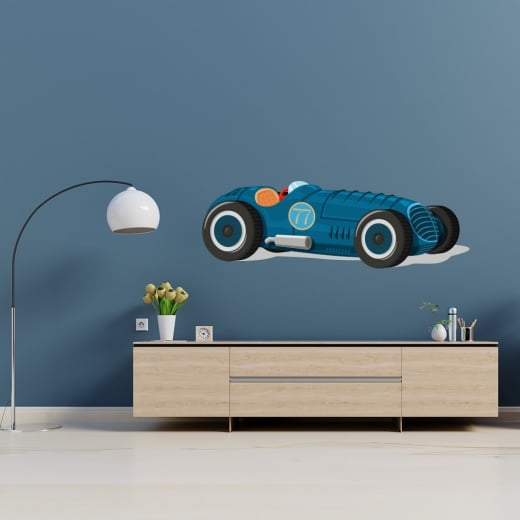 Wall Chimp Traditional Racing Car Printed Wall Sticker