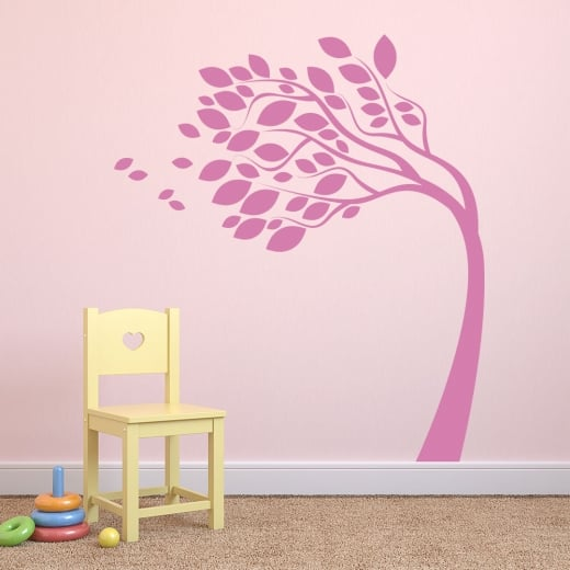 Wall Chimp Tree Blowing In The Wind Wall Sticker