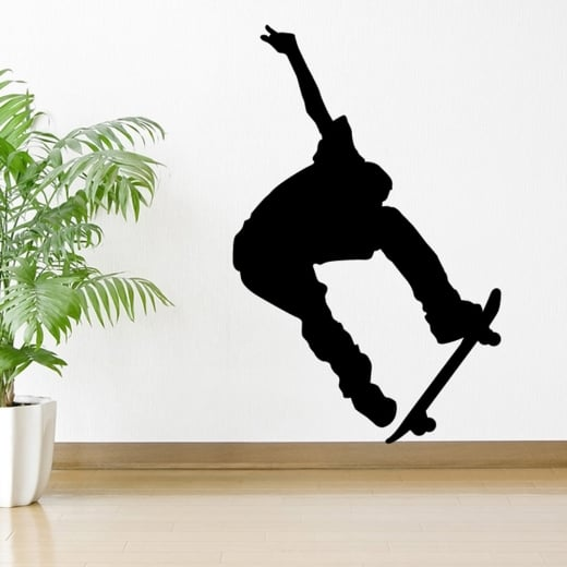 Wall Chimp Trick Skateboarder Wall Sticker