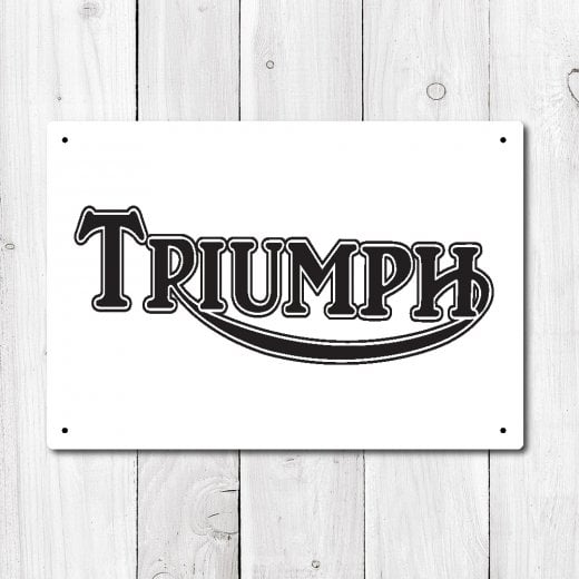 Wall Chimp Triumph Metal Sign