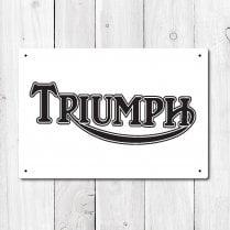 Triumph Metal Sign