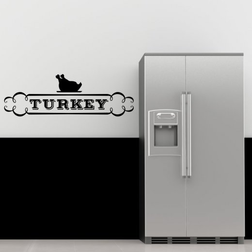 Wall Chimp Turkey Kitchen Wall Sticker Quote