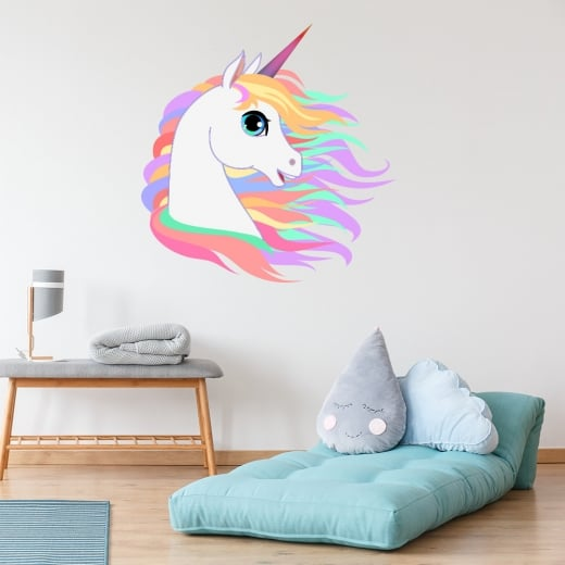 Wall Chimp Unicorn Printed Wall Sticker