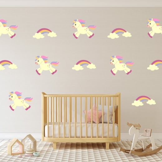 Wall Chimp Unicorn & Rainbow Printed Sticker Pack