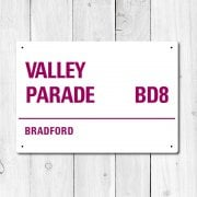 Valley Parade, Bradford Metal Sign