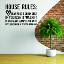 Vegan House Rules Wall Sticker