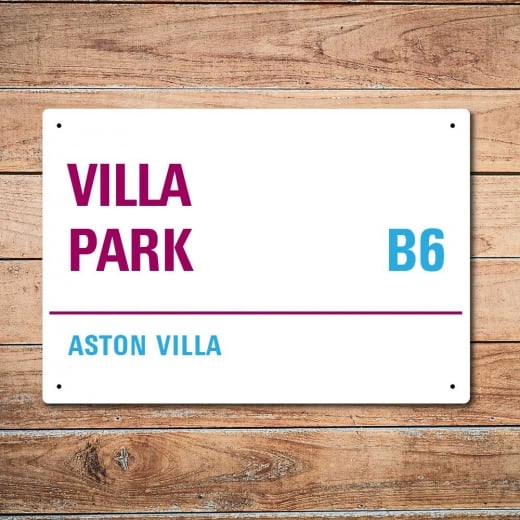 Wall Chimp Villa Park, Aston Villa Metal Sign
