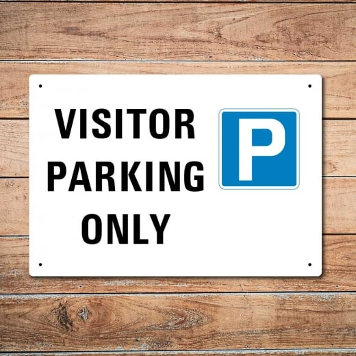Wall Chimp Visitor Parking Metal Sign