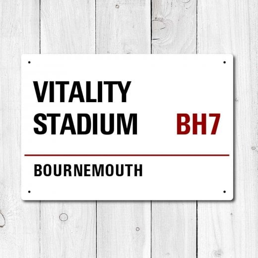 Wall Chimp Vitality Stadium, Bournemouth Metal Sign