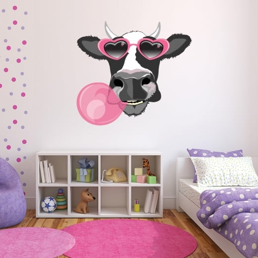 Wall chimp wacky moo cow printed wall sticker