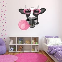 Wacky Moo Cow Printed Wall Sticker