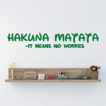Walt Disney Hakuna Matata - It Means No Worries Wall Sticker Quote