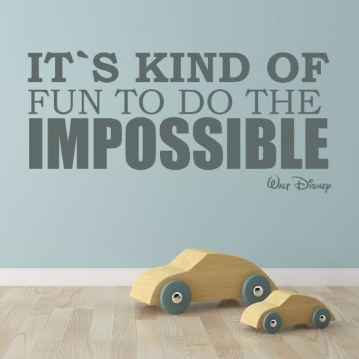 Wall Chimp Walt Disney It's Kind Of Fun To Do The Impossible Wall Sticker Quote