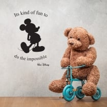 Walt Disney It's Kind Of Fun To Do The Impossible Wall Sticker Quote