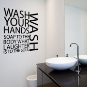 Wash Your Hands Wall Sticker Quote