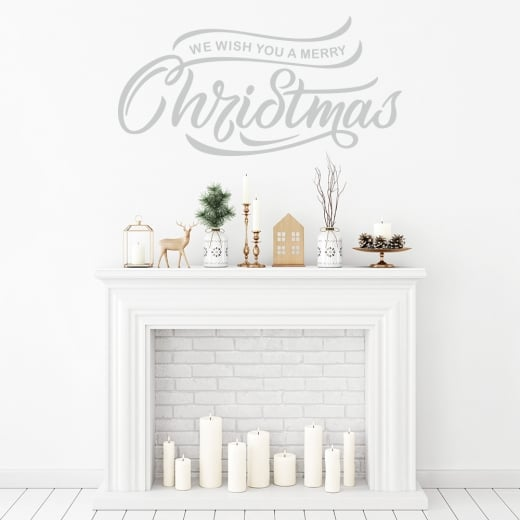 Wall Chimp We Wish You A Merry Christmas Wall Sticker
