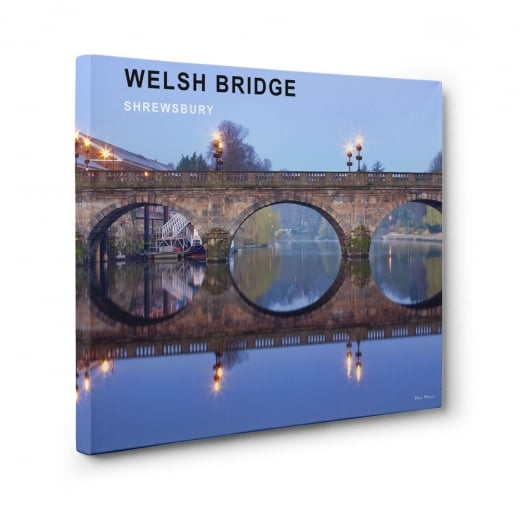 Wall Chimp Welsh Bridge - Shrewsbury Canvas Print