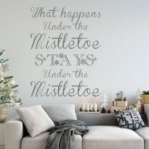 What Happens Under The Mistletoe Wall & Window Sticker