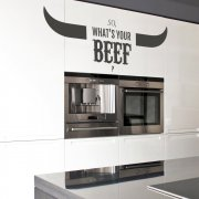 Whats Your Beef Wall Sticker Quote