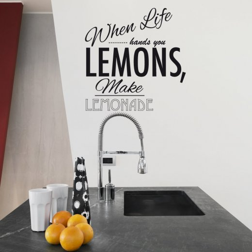 Wall Chimp When Life Gives You Lemons Wall Sticker