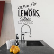 When Life Gives You Lemons Wall Sticker
