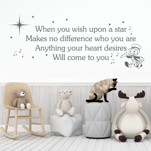 Wall Chimp When You Wish Upon A Star Wall Sticker Quote
