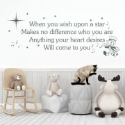 When You Wish Upon A Star Wall Sticker Quote