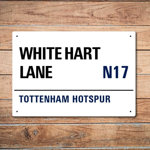 Wall Chimp White Hart Lane, Tottenham Hotspur Metal Sign