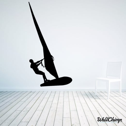 Wall Chimp Wind Surfer Wall Sticker
