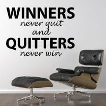 Winners Never Quit Motivational Wall Sticker