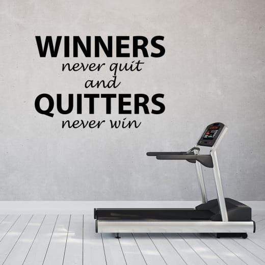 Wall Chimp Winners Never Quit Motivational Wall Sticker