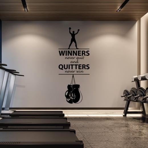 Wall Chimp Winners Never Quit Motivational Wall Sticker