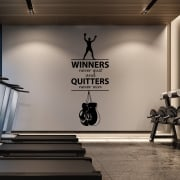 Winners Never Quit Motivational Wall Sticker