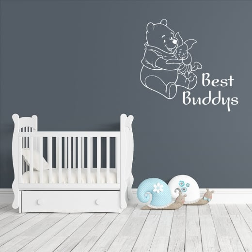 Wall Chimp Winnie The Pooh & Piglet Best Buddys Wall Sticker