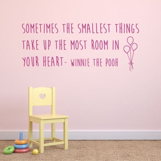 Wall Chimp Winnie the Pooh Wall Sticker Quote