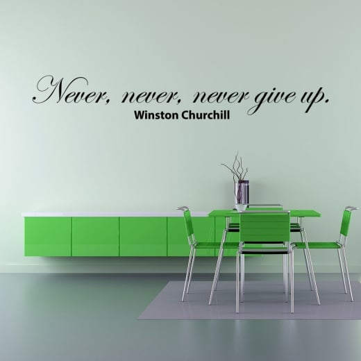 Wall Chimp Winston Churchill Motivational Wall Sticker