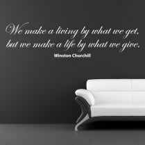 Winston Churchill Motivational Wall Sticker
