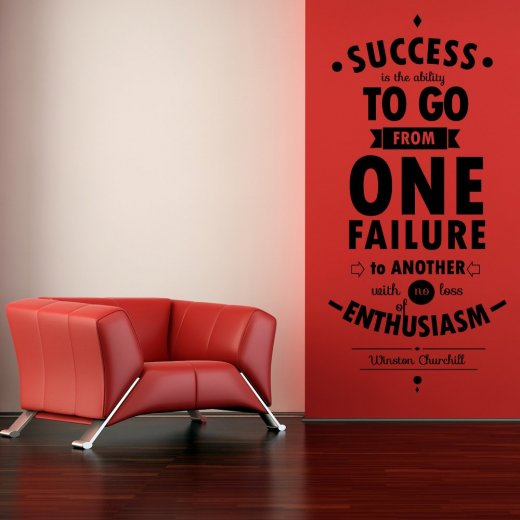 Wall Chimp Winston Churchill Success Wall Sticker Quote