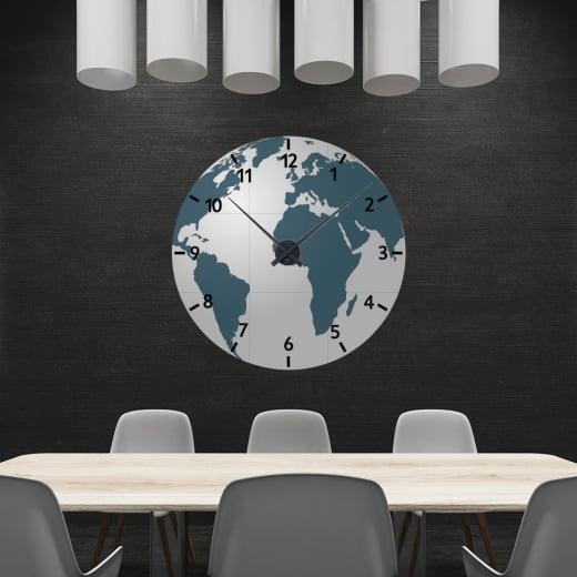 Wall Chimp World Map Wall Clock