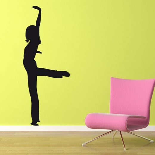 Wall Chimp Yoga Extended Pose Wall Sticker
