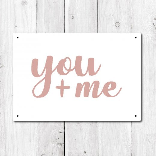 Wall Chimp You And Me Metal Sign