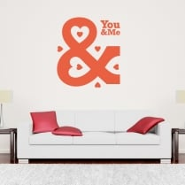 You And Me Wall Sticker Quote