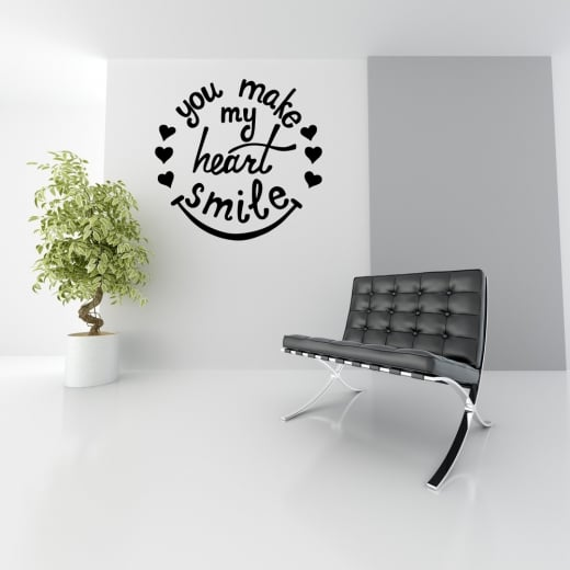Wall Chimp You Make My Heart Smile Wall Sticker