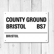Country Ground Bristol, Bristol Metal Sign