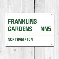 Franklins Gardens, Northampton Metal Sign